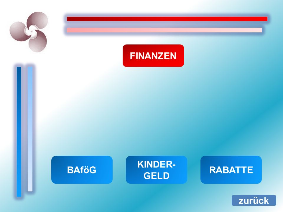 FINANZEN BAföG KINDER-GELD RABATTE zurück