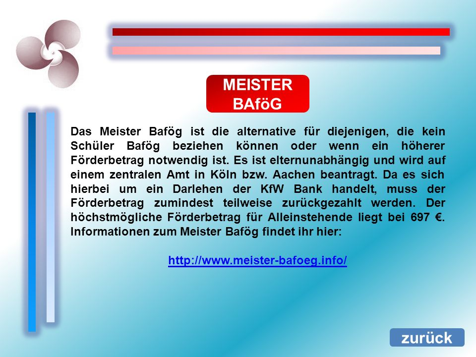 MEISTER BAföG.