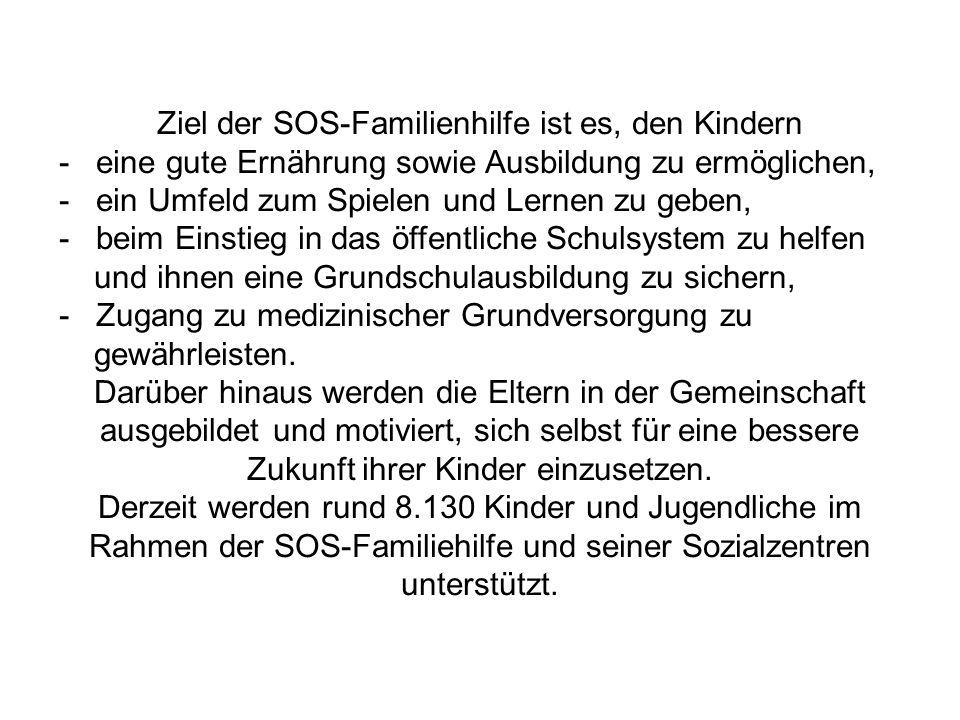 Ziel der SOS-Familienhilfe ist es, den Kindern