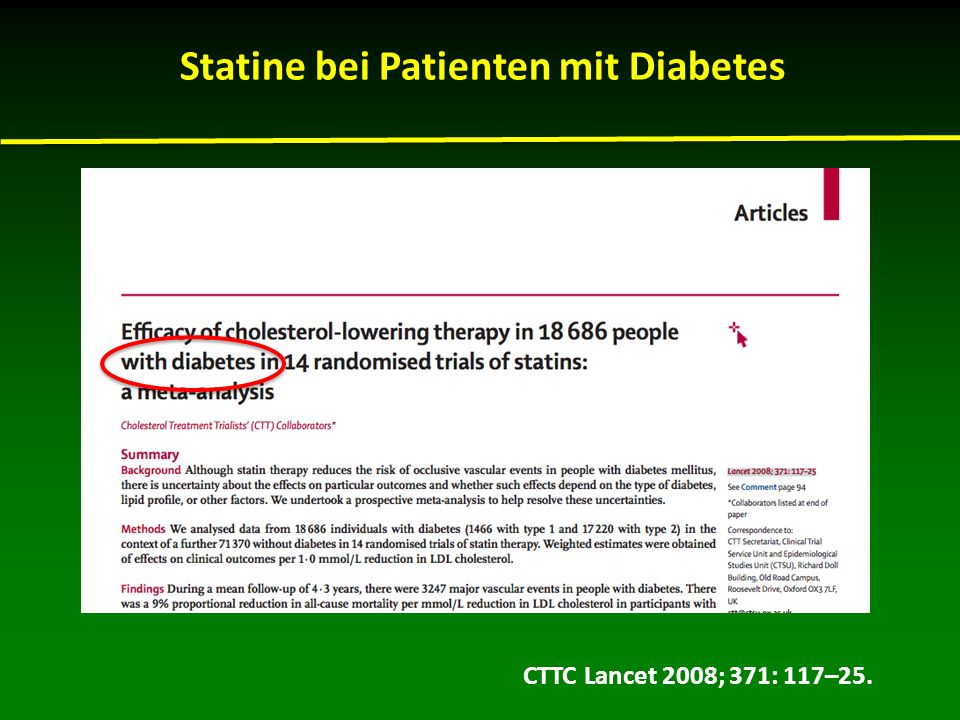 Statine bei Patienten mit Diabetes