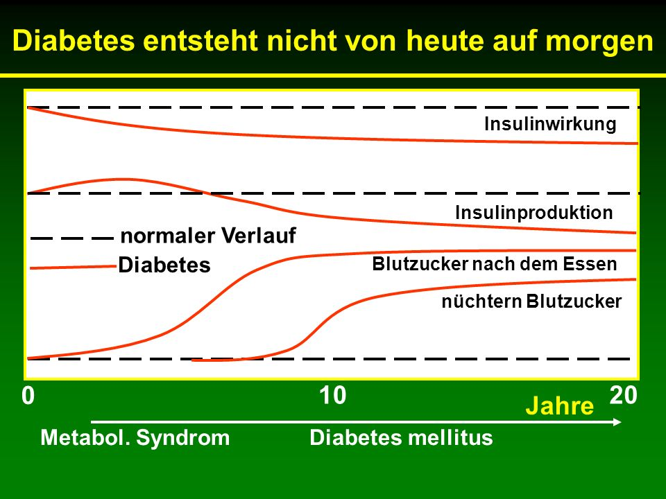 Diabetes entsteht nicht von heute auf morgen