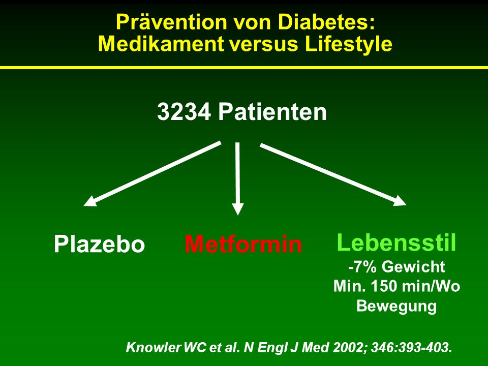 Prävention von Diabetes: Medikament versus Lifestyle