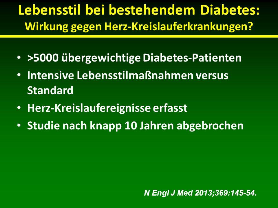 Lebensstil bei bestehendem Diabetes: Wirkung gegen Herz-Kreislauferkrankungen
