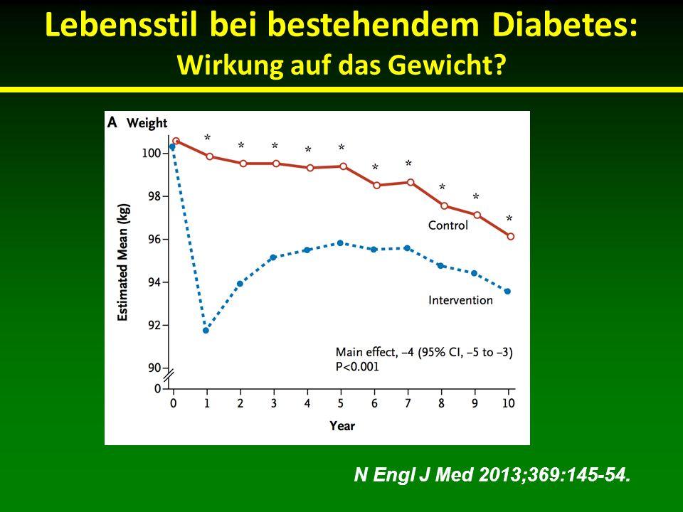 Lebensstil bei bestehendem Diabetes: Wirkung auf das Gewicht