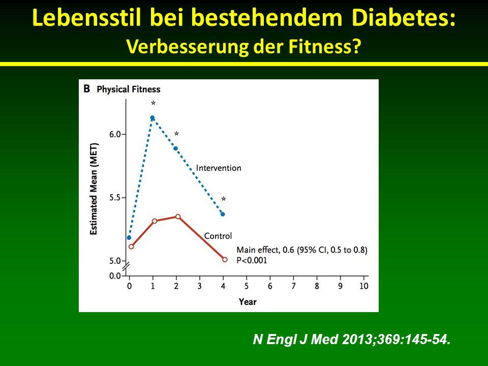 Lebensstil bei bestehendem Diabetes: Verbesserung der Fitness