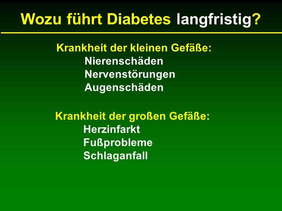Wozu führt Diabetes langfristig