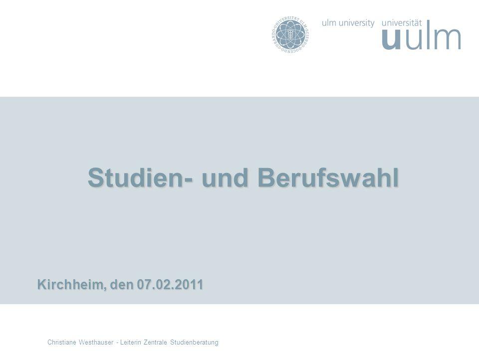 Studien- und Berufswahl