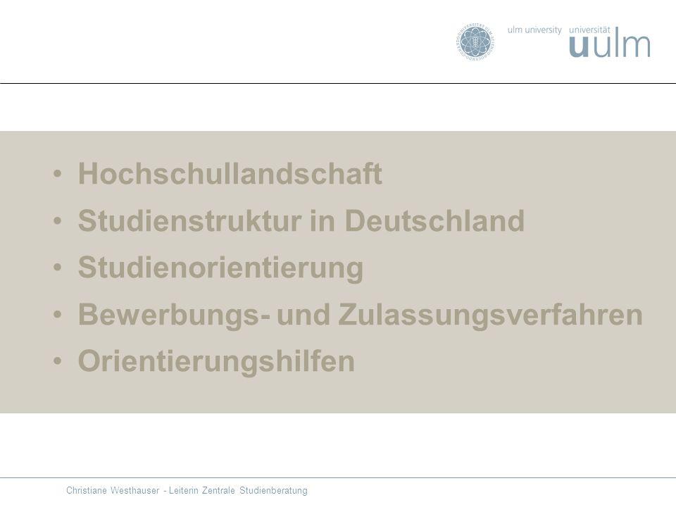 Studienstruktur in Deutschland Studienorientierung