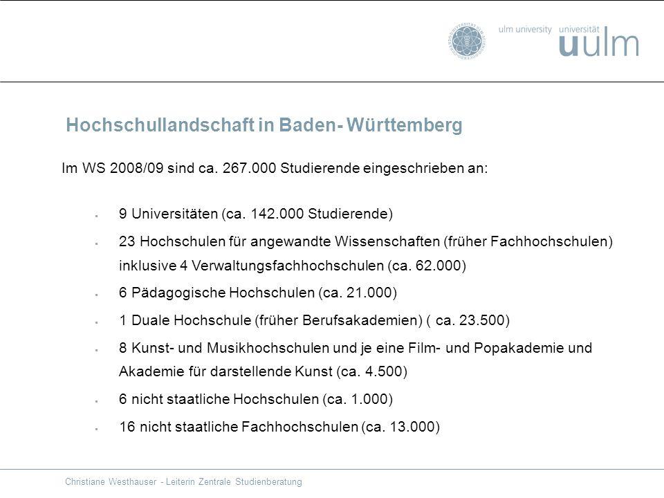 Hochschullandschaft in Baden- Württemberg
