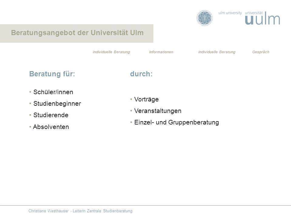 Beratungsangebot der Universität Ulm