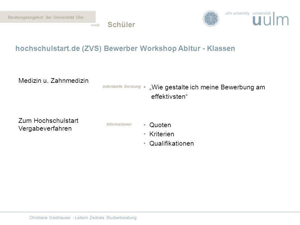 hochschulstart.de (ZVS) Bewerber Workshop Abitur - Klassen