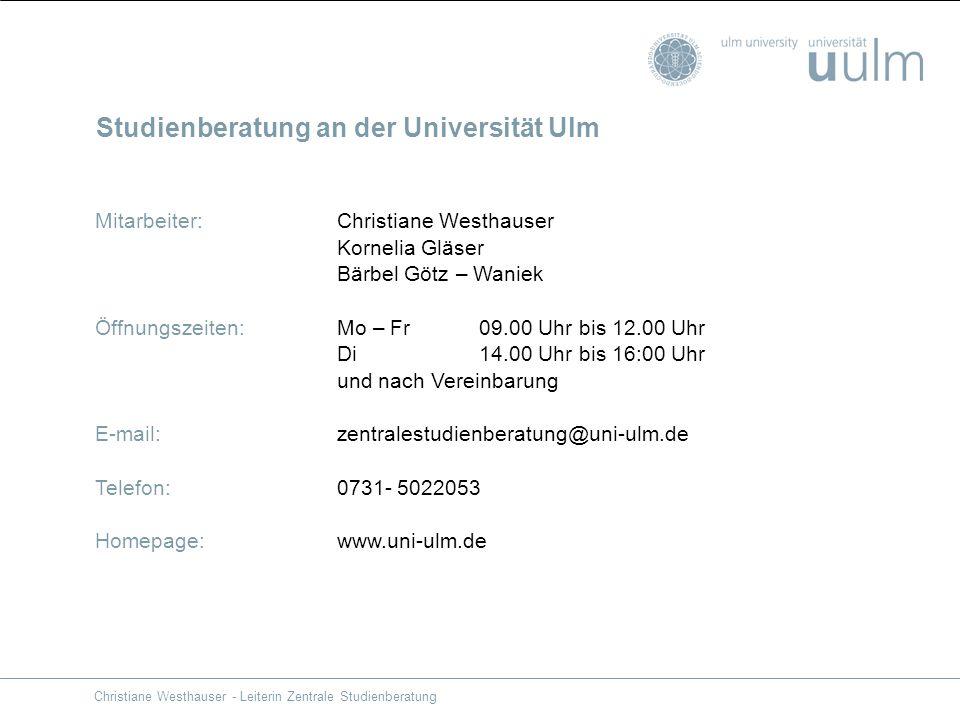 Studienberatung an der Universität Ulm