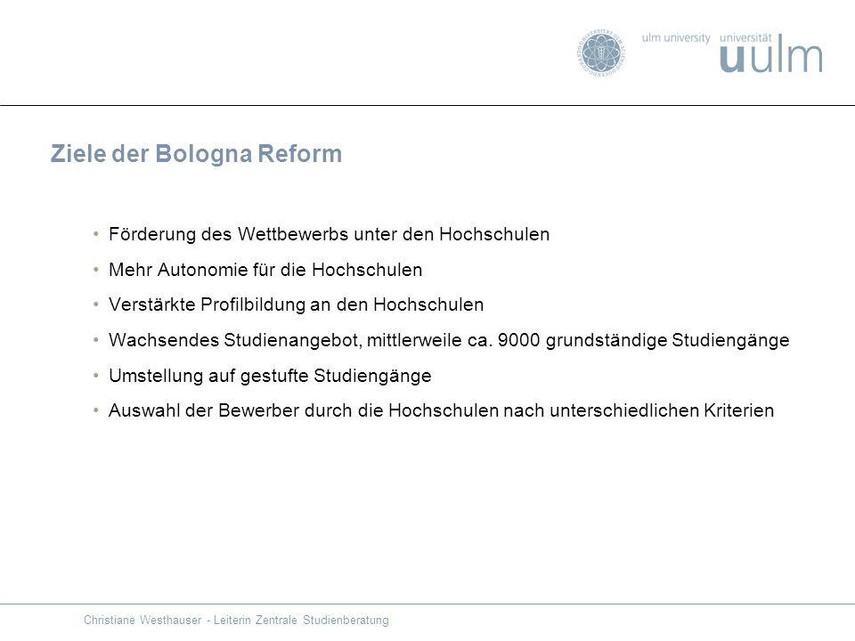 Ziele der Bologna Reform