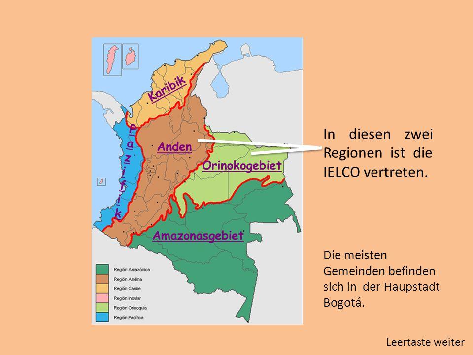 In diesen zwei Regionen ist die IELCO vertreten.