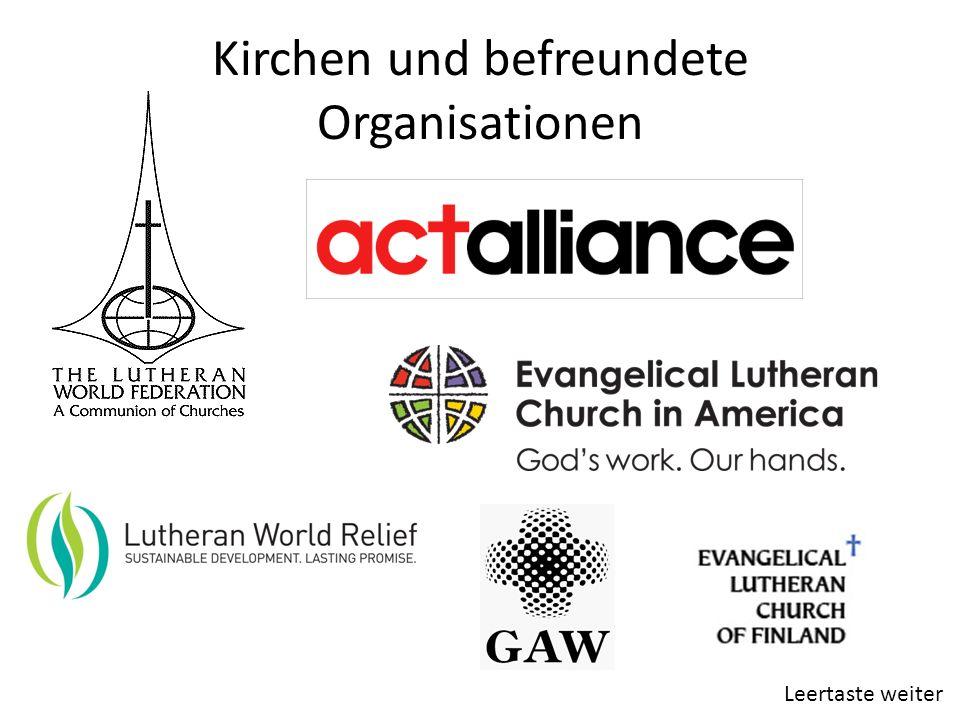 Kirchen und befreundete Organisationen