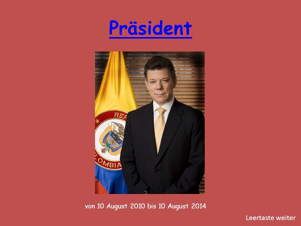Präsident von 10 August 2010 bis 10 August 2014 Leertaste weiter