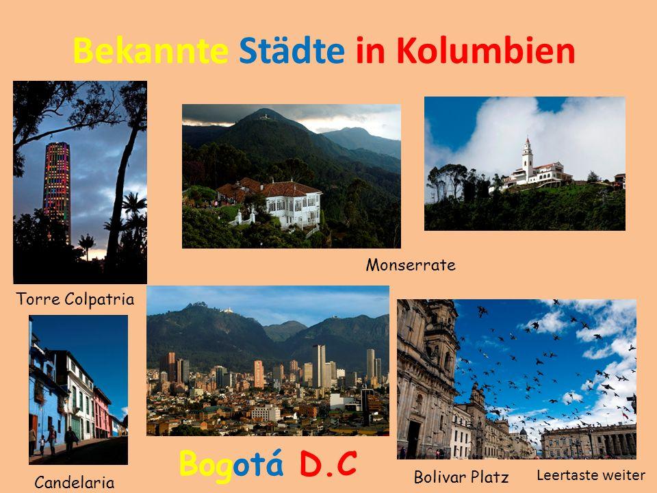 Bekannte Städte in Kolumbien