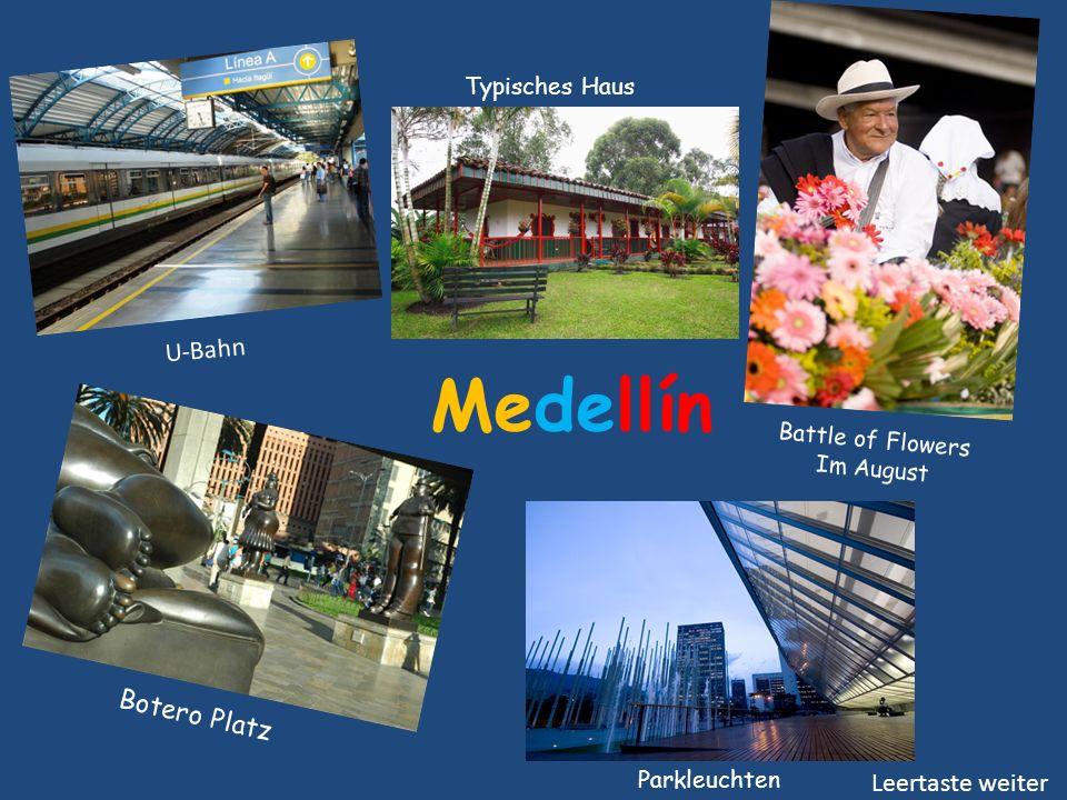 Medellín U-Bahn Botero Platz Leertaste weiter Typisches Haus
