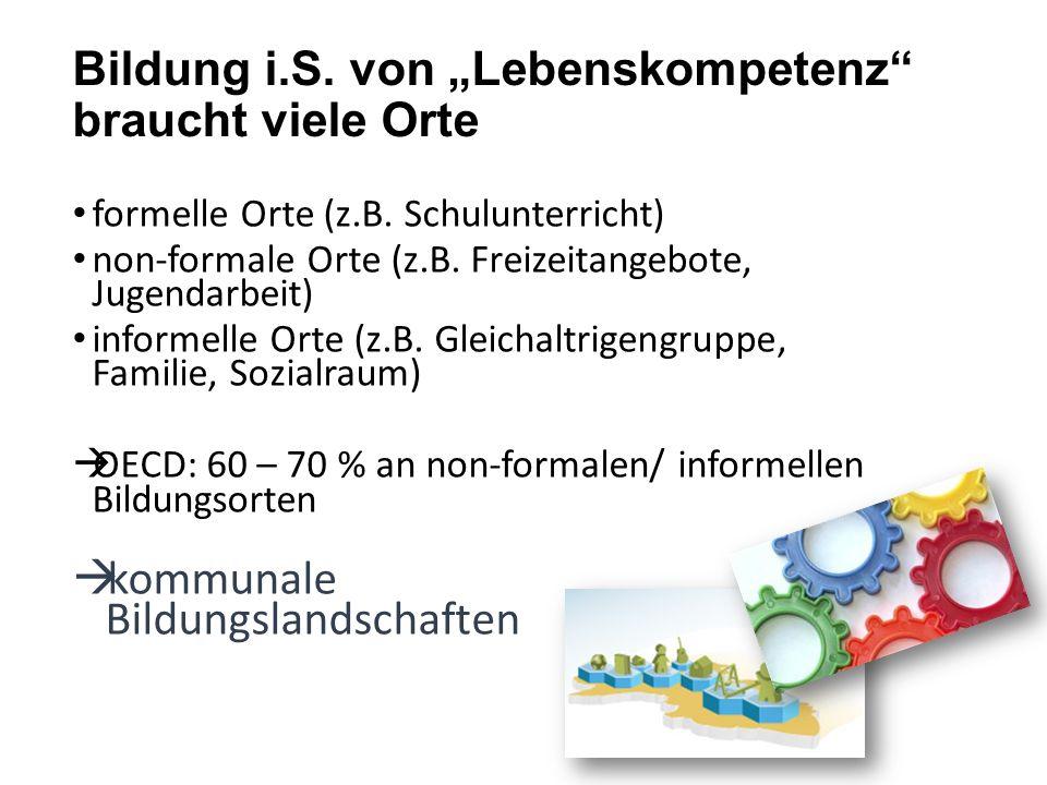 """Bildung i.S. von """"Lebenskompetenz braucht viele Orte"""