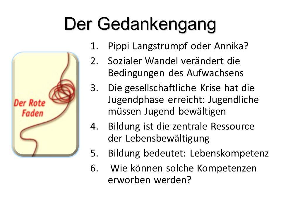 Der Gedankengang Pippi Langstrumpf oder Annika