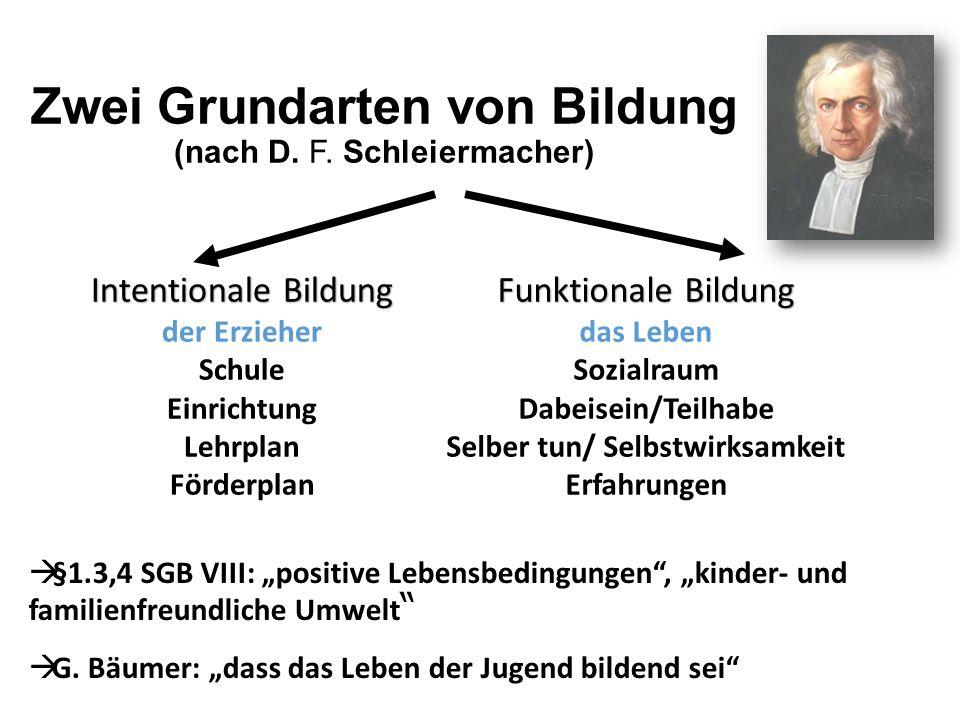 Zwei Grundarten von Bildung (nach D. F. Schleiermacher)