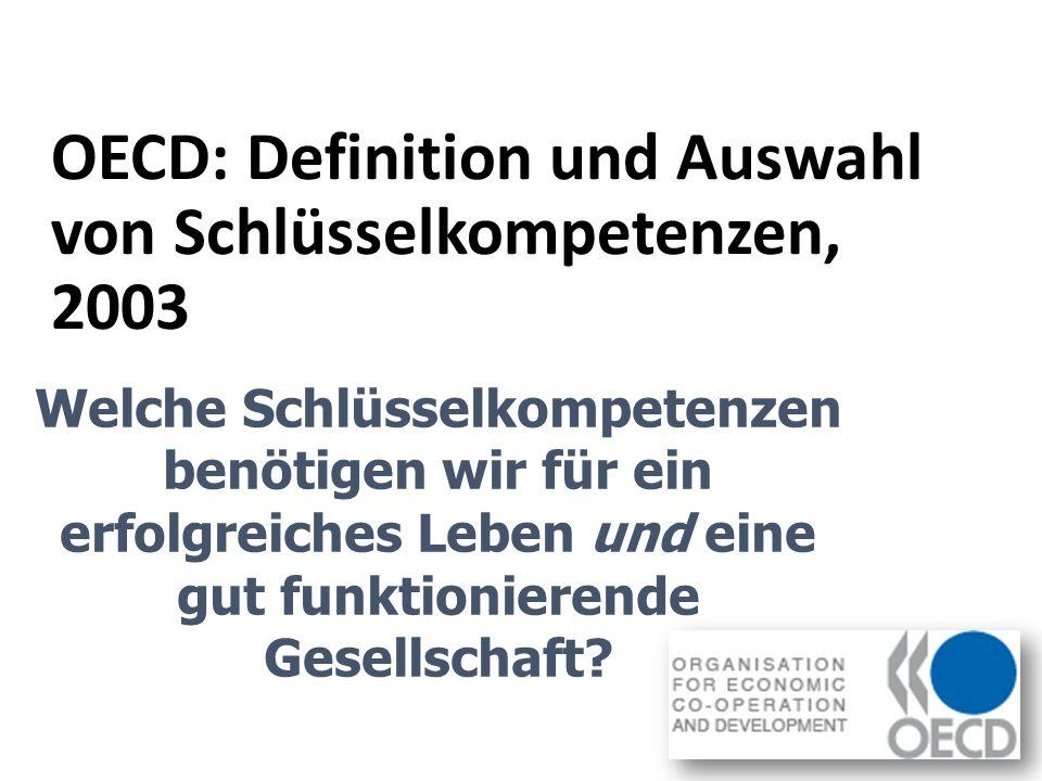 OECD: Definition und Auswahl von Schlüsselkompetenzen, 2003