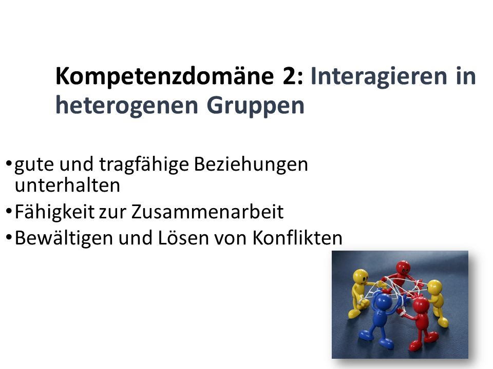Kompetenzdomäne 2: Interagieren in heterogenen Gruppen