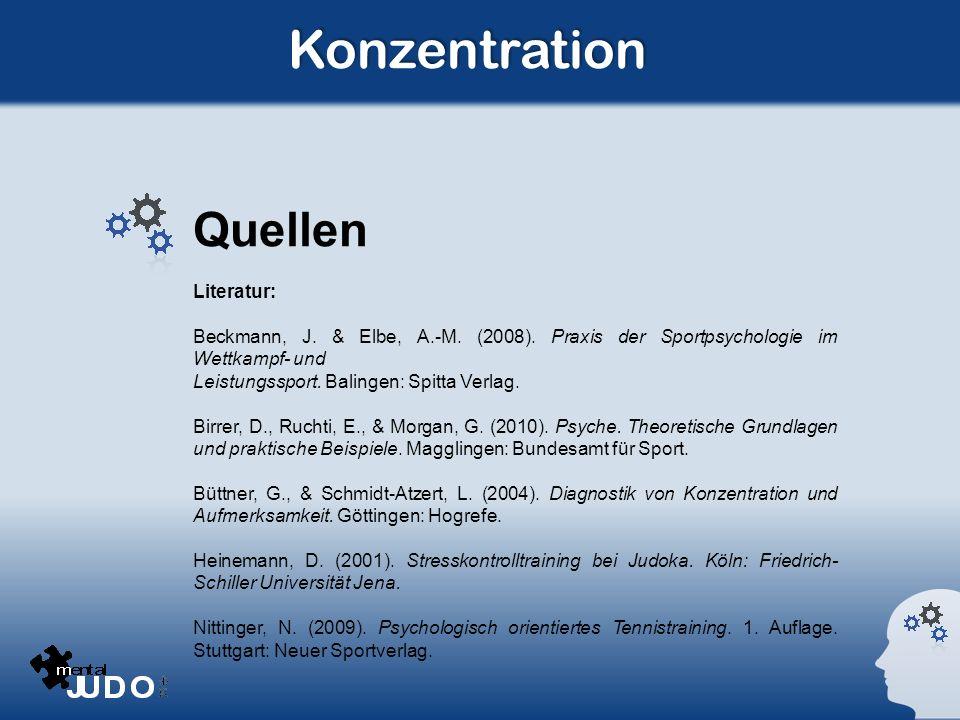 Konzentration Quellen Literatur: