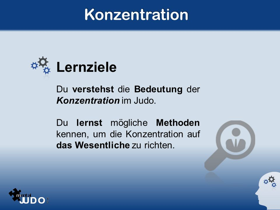Konzentration Lernziele