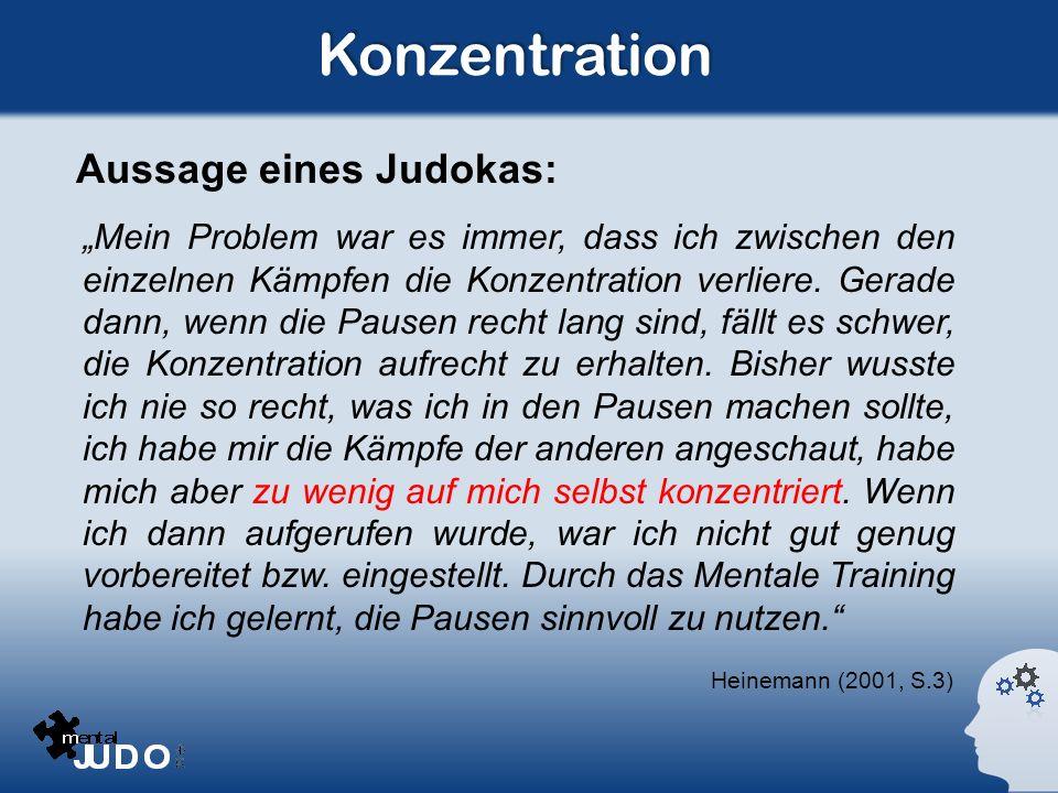 Konzentration Aussage eines Judokas: