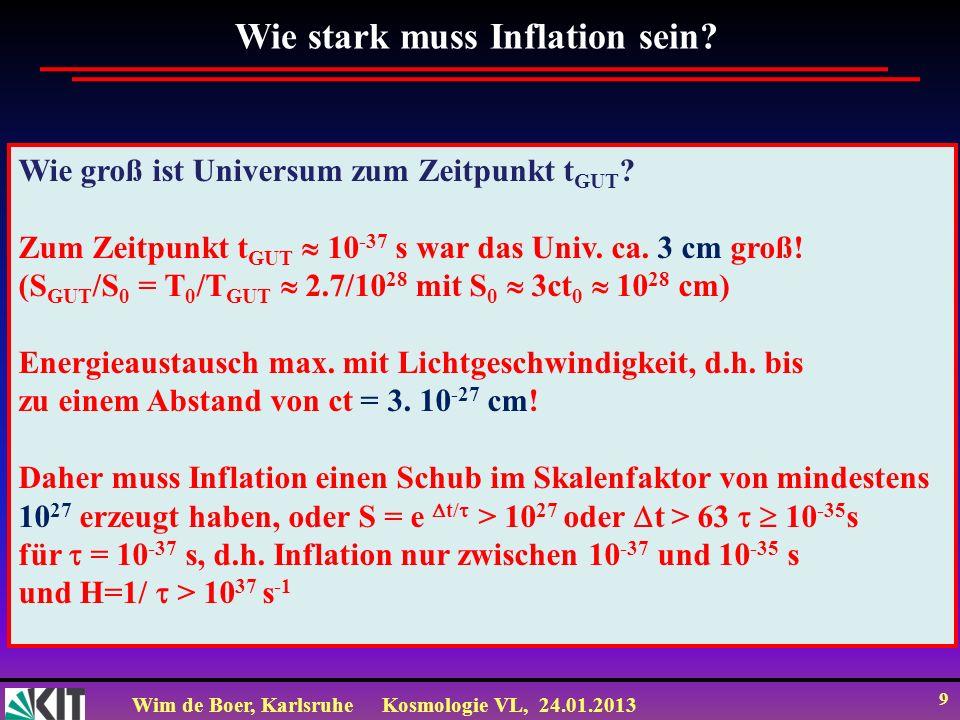 Wie stark muss Inflation sein