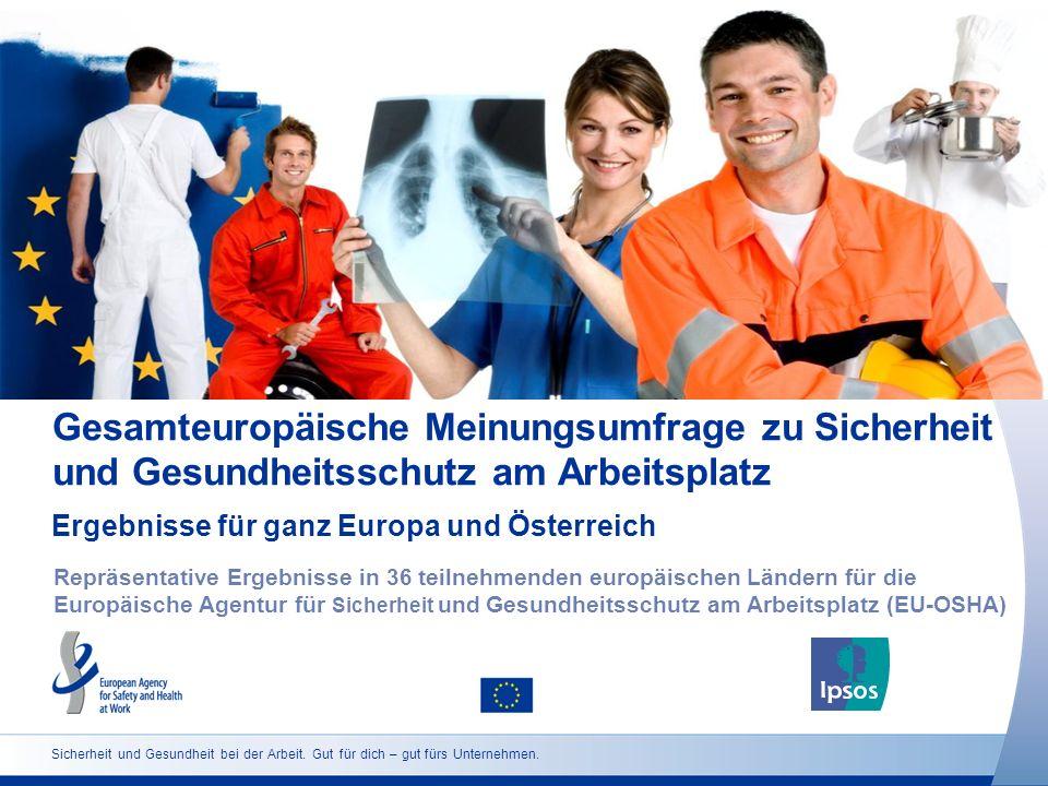 Gesamteuropäische Meinungsumfrage zu Sicherheit und Gesundheitsschutz am Arbeitsplatz