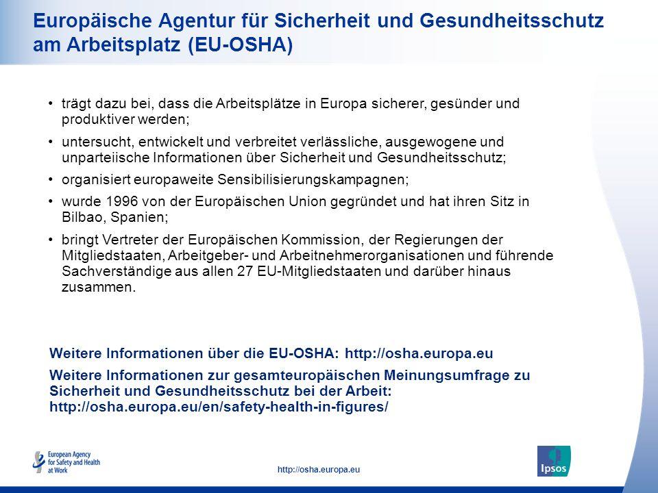 Europäische Agentur für Sicherheit und Gesundheitsschutz am Arbeitsplatz (EU-OSHA)