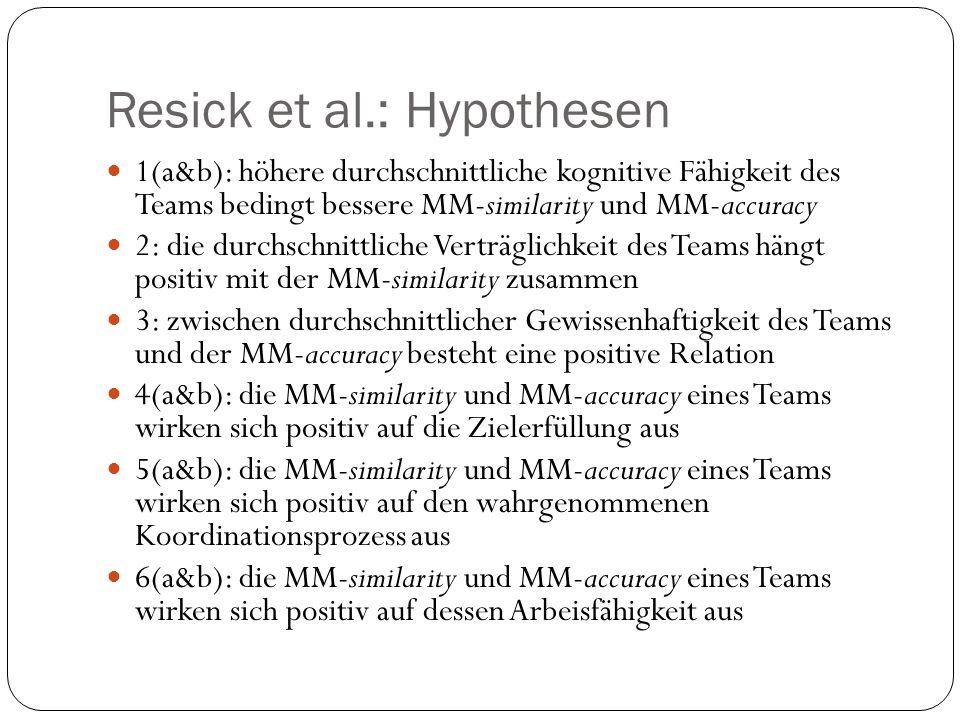 Resick et al.: Hypothesen