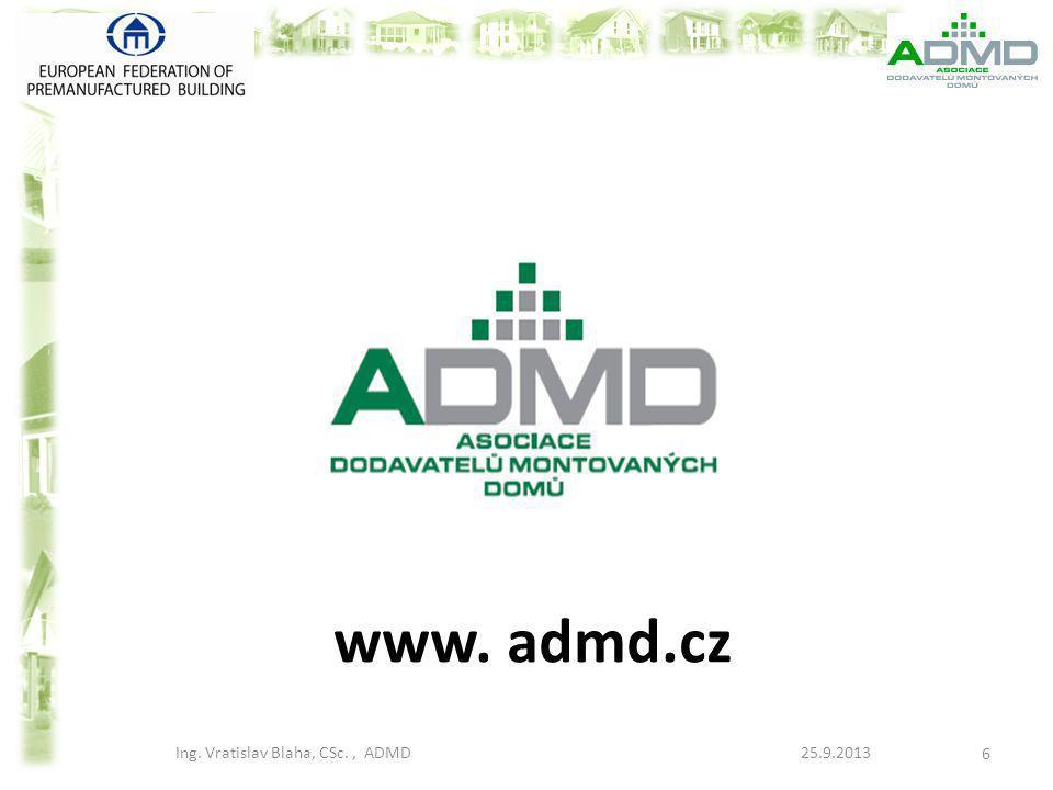 Ing. Vratislav Blaha, CSc. , ADMD 25.9.2013