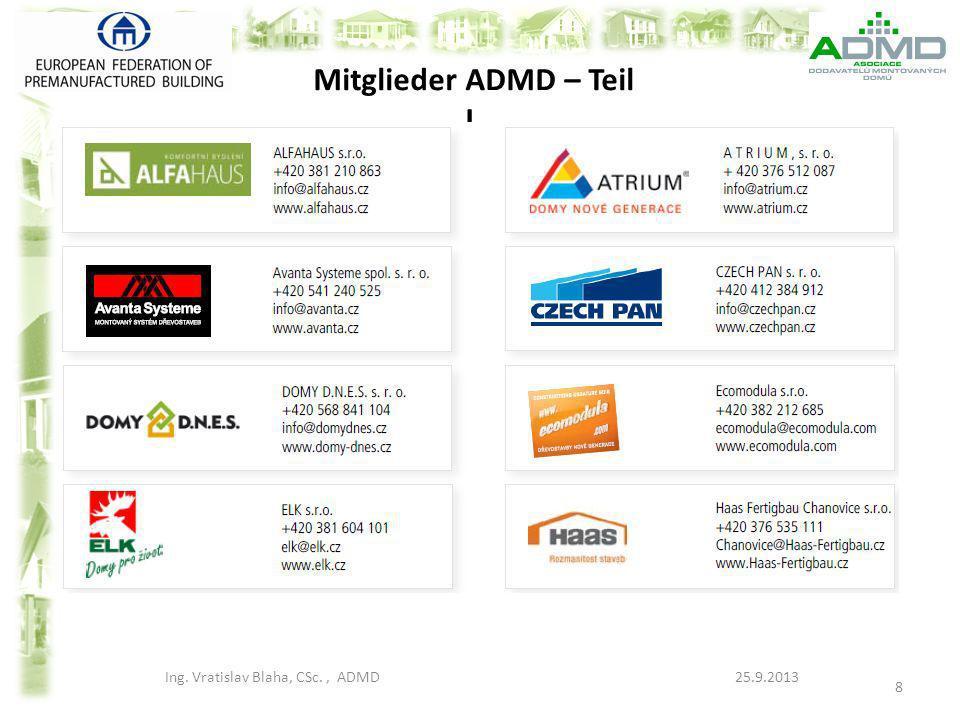 Mitglieder ADMD – Teil I.