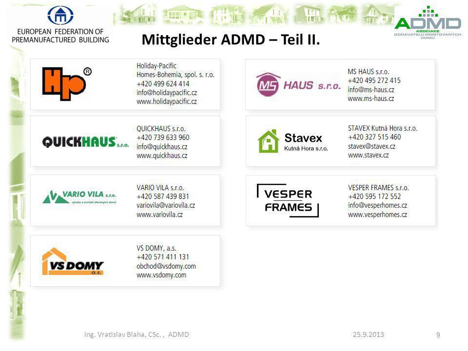 Mittglieder ADMD – Teil II.