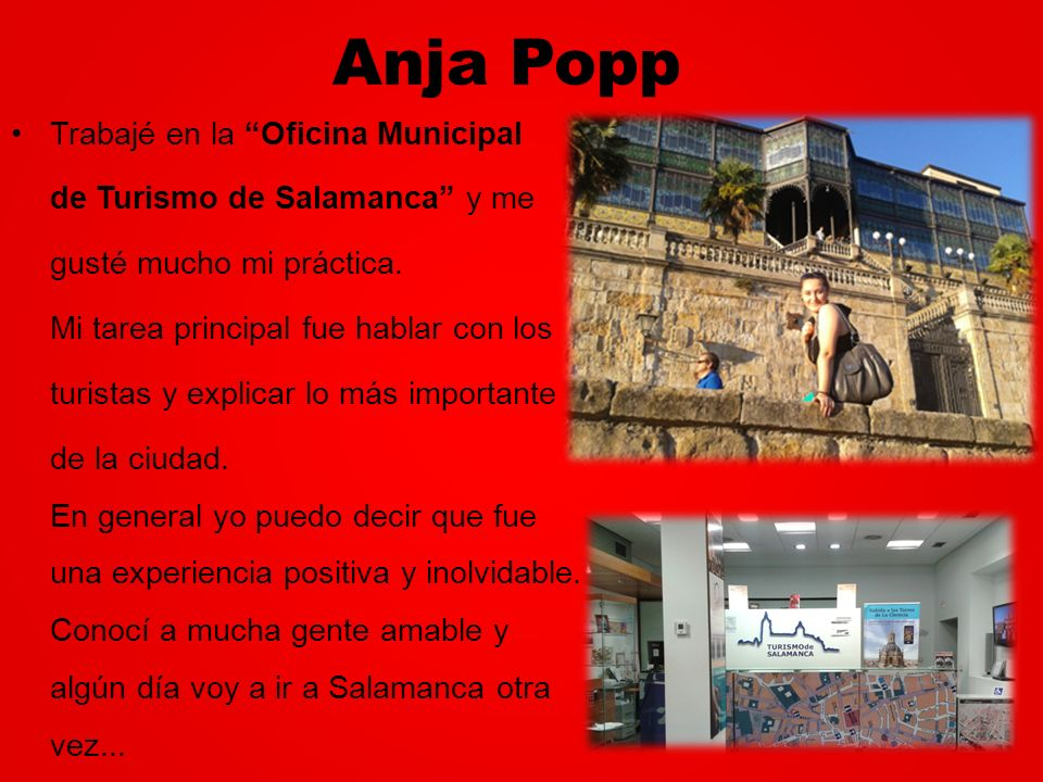 Anja Popp Trabajé en la Oficina Municipal