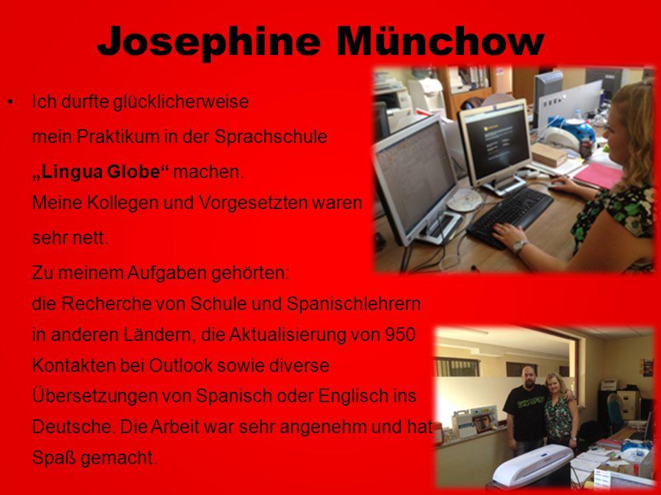Josephine Münchow Ich durfte glücklicherweise