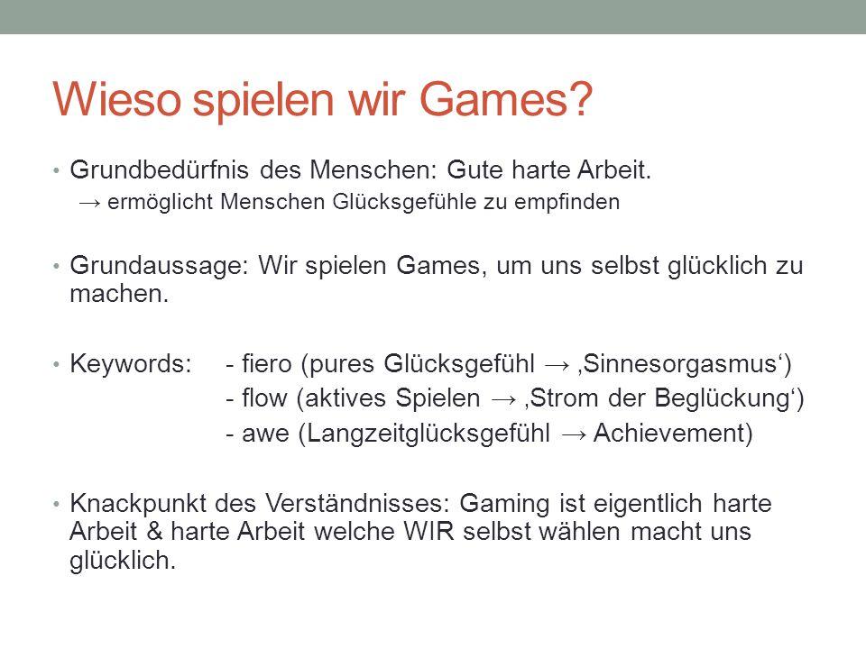 Wieso spielen wir Games