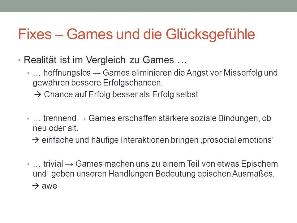 Fixes – Games und die Glücksgefühle