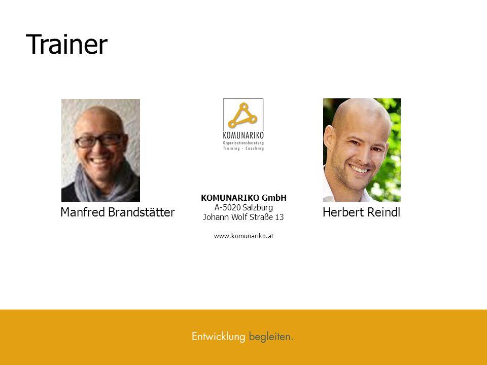 Trainer Manfred Brandstätter Herbert Reindl