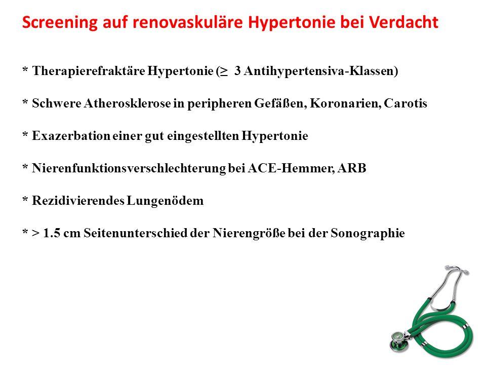 Screening auf renovaskuläre Hypertonie bei Verdacht