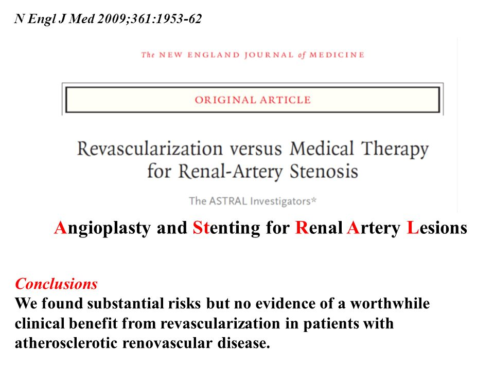 Angioplasty and Stenting for Renal Artery Lesions