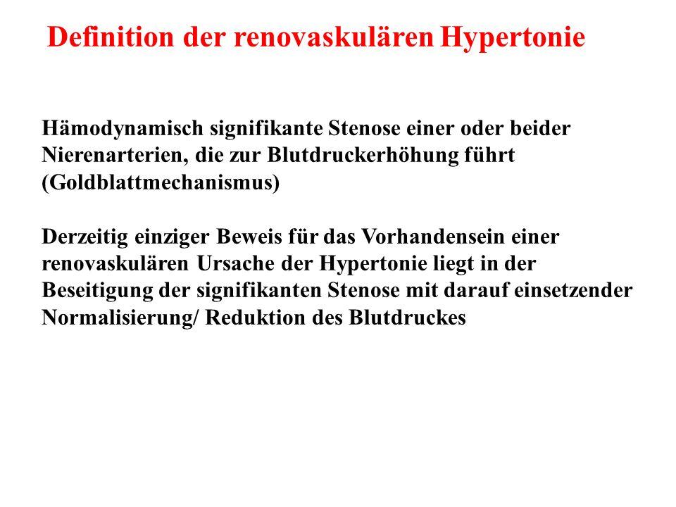Definition der renovaskulären Hypertonie