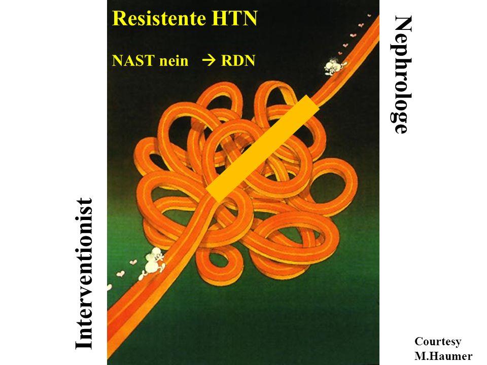 Nephrologe Interventionist Resistente HTN NAST nein  RDN
