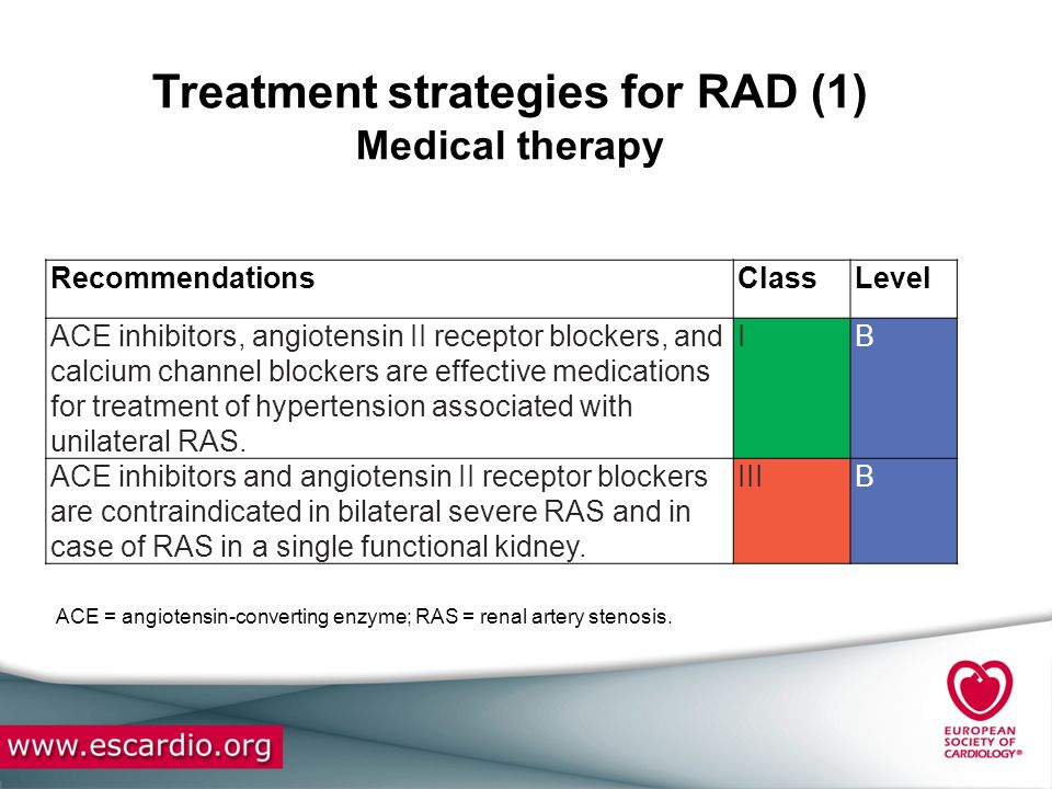 Treatment strategies for RAD (1) Medical therapy