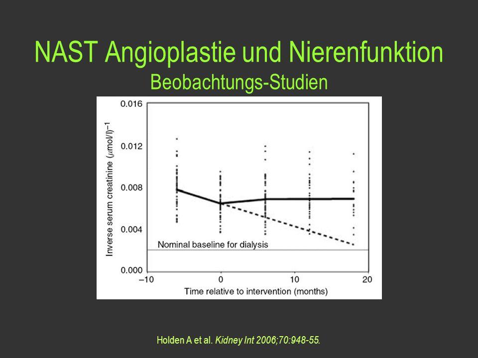 NAST Angioplastie und Nierenfunktion
