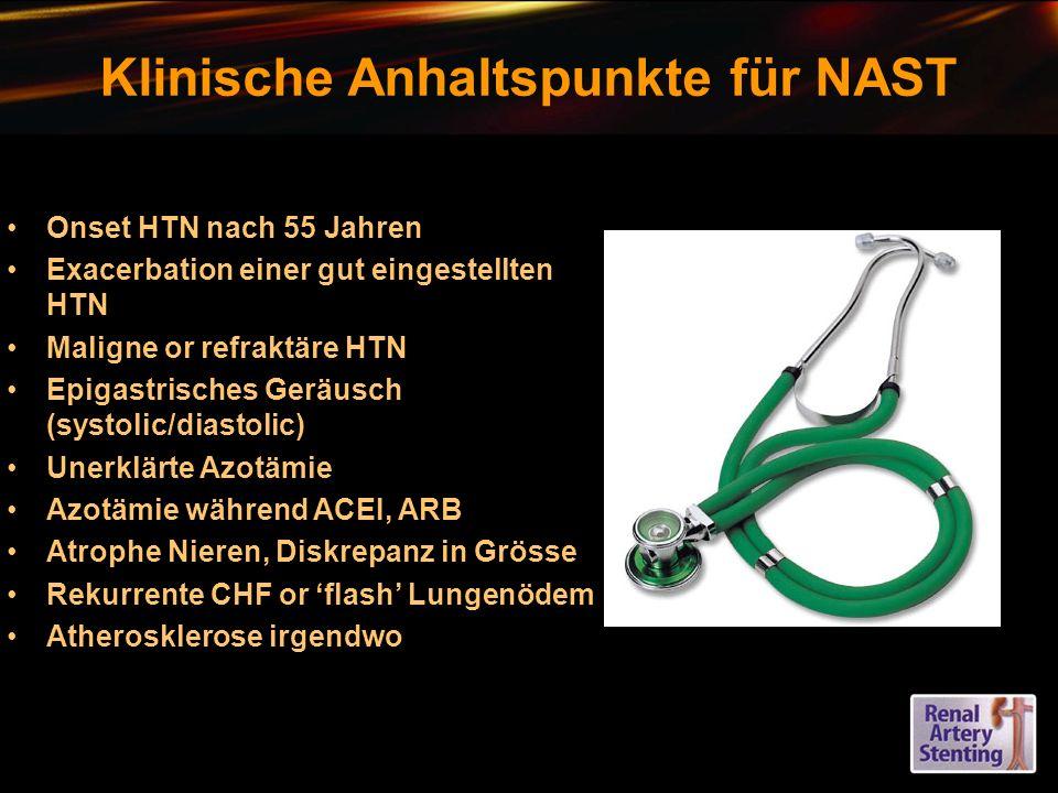 Klinische Anhaltspunkte für NAST
