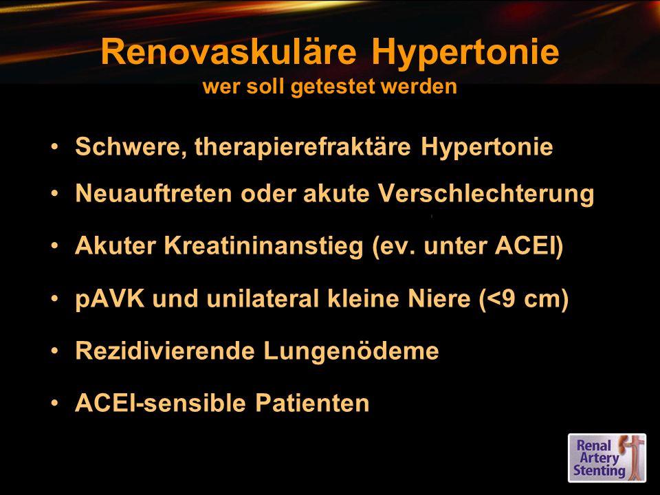 Renovaskuläre Hypertonie wer soll getestet werden